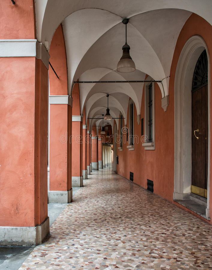 Arched walkway royalty free stock images