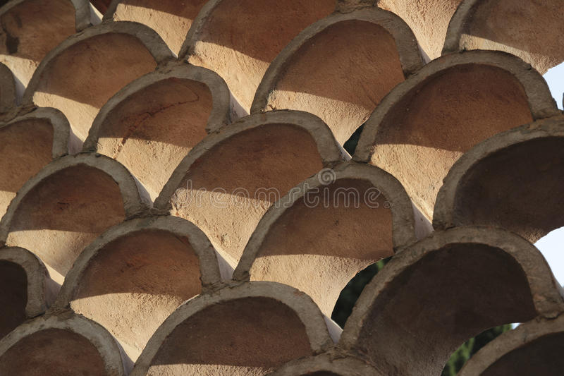 Arched Wall Texture stock image