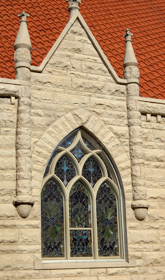 Free Arched Window And Stained Glass Royalty Free Stock Images - 7633289