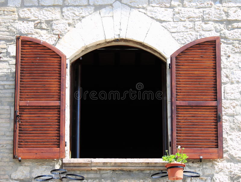 Arched window stock image