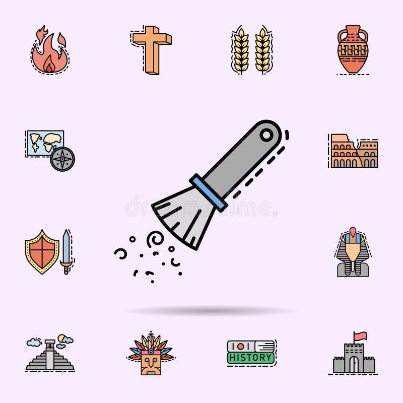 archelogy, czysty, odkurza, szczotkuje, ikon? Og?lnoludzki ustawiaj?cy historia dla strona internetowa projekta i rozwoju, app ro ilustracja wektor
