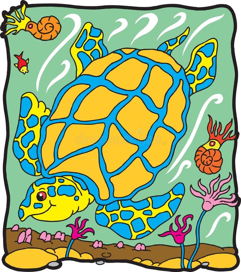 archelondinosaursköldpadda royaltyfri illustrationer