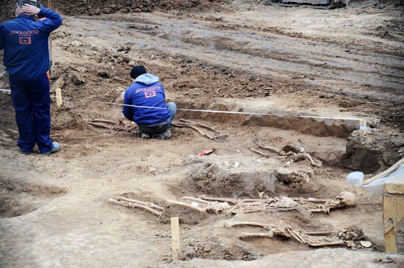 archeologia Bucharest miastowy zdjęcie royalty free