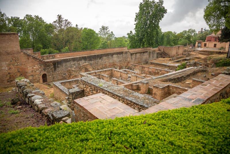 Archeologic område av den Abencerrajes slotten royaltyfria foton