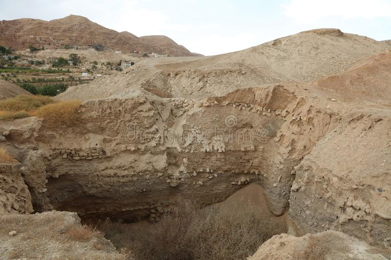 Archeological Excavation in Jericho stock photography