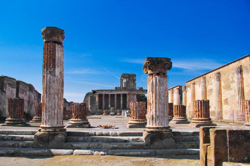 Archeological excavations of Pompeii, Italy stock images