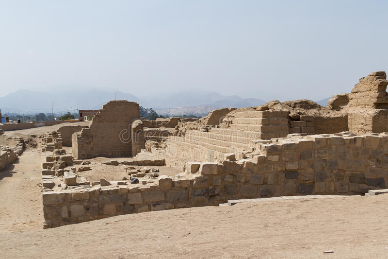 Archeological kompleks Pachacamac w Lima zdjęcia royalty free