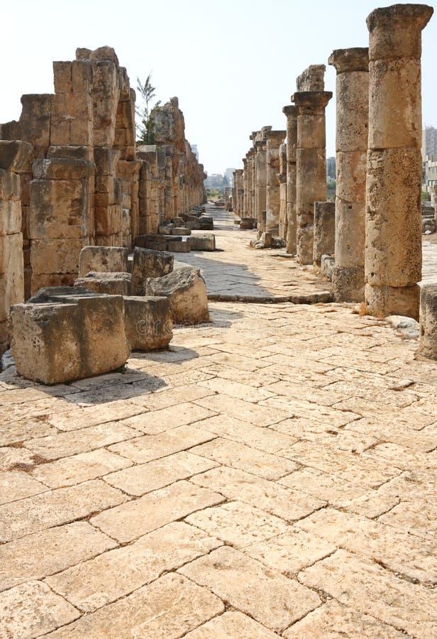 archeological lebanon lokaldäck royaltyfria foton