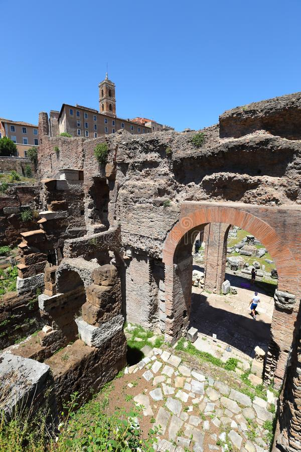 Roman Forum Remains royalty free stock photography