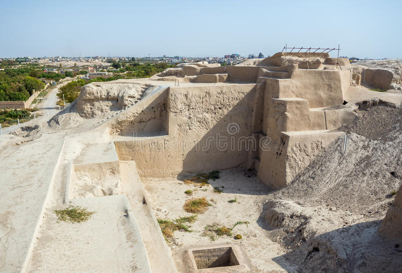 Archeological site in Iran. Tepe Sialk ancient archeological site in Kashan, Iran stock image