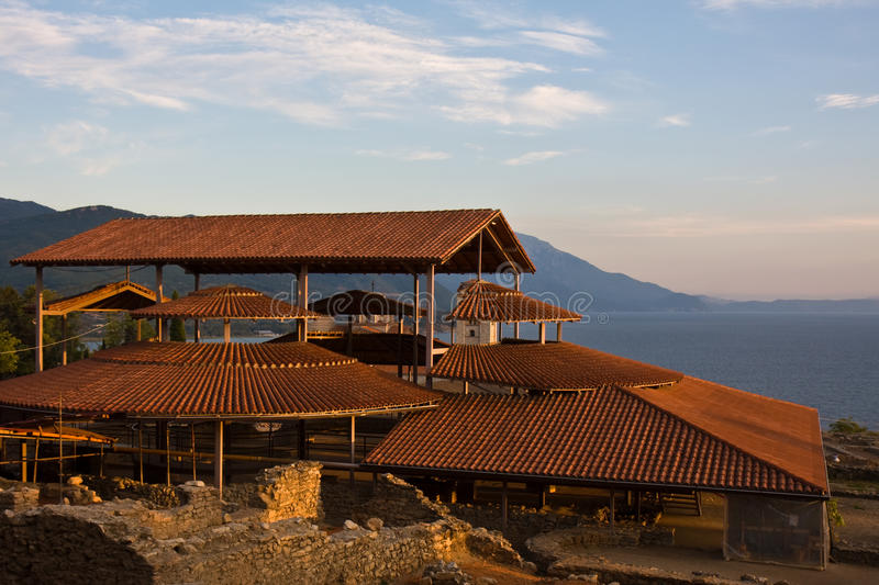 Archeological Site in Ohrid royalty free stock images