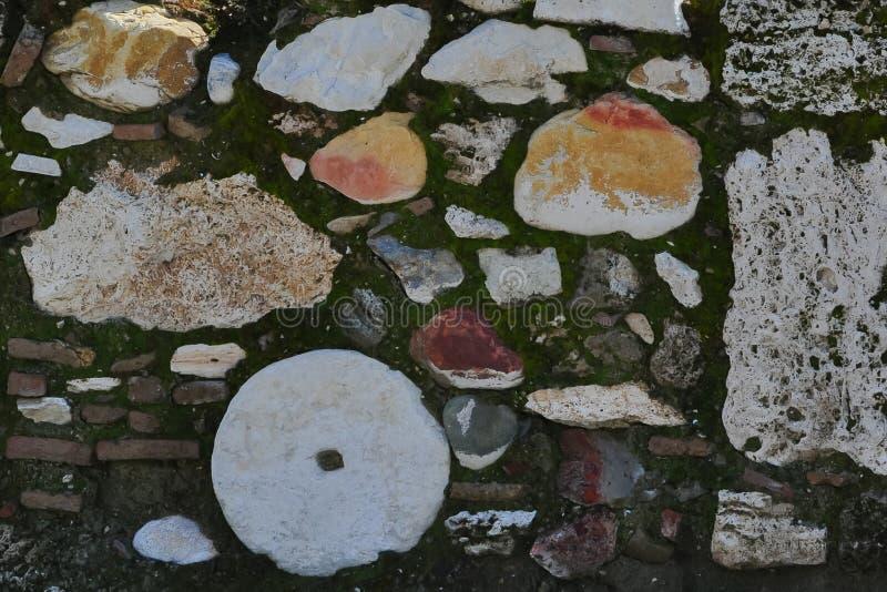 Archeological wykopaliska stylu ściana obrazy royalty free