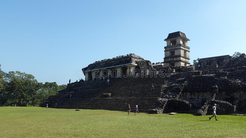 `Archeological Zone` 04. One of the biggest ancient Mayan cities where the great Pakal use to live. Palenque, Chiapas. Mexico royalty free stock photography