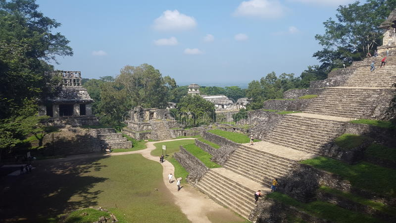 `Archeological Zone` 05. One of the biggest ancient Mayan cities where the great Pakal use to live. Palenque, Chiapas. Mexico royalty free stock photos