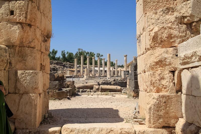 Archeologiczne ruiny antyczny miasto Beit Ona « obraz stock