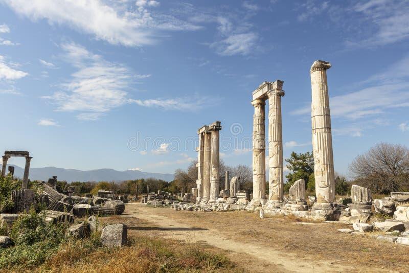 Archeologiczny miejsce Aphrodisias w Aydin prowincji Turcja obrazy stock