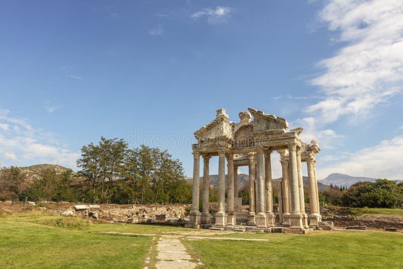 Archeologiczny miejsce Aphrodisias w Aydin prowincji Turcja zdjęcie royalty free