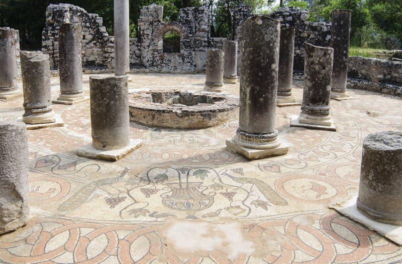 Archeologiczny miejsce butrint Albania Europe zdjęcie royalty free