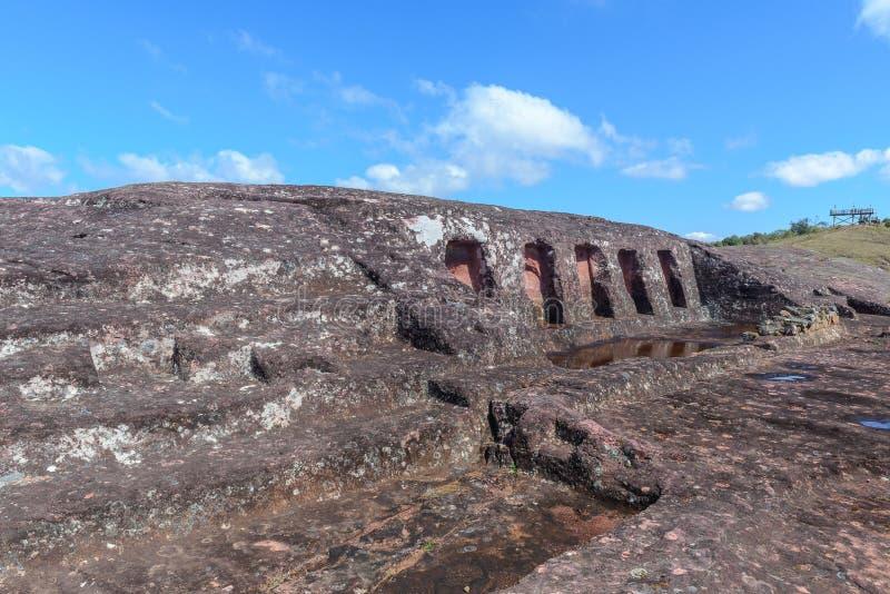 Archeologiczny miejsce El Fuerte De Samaipata, Boliwia zdjęcia royalty free