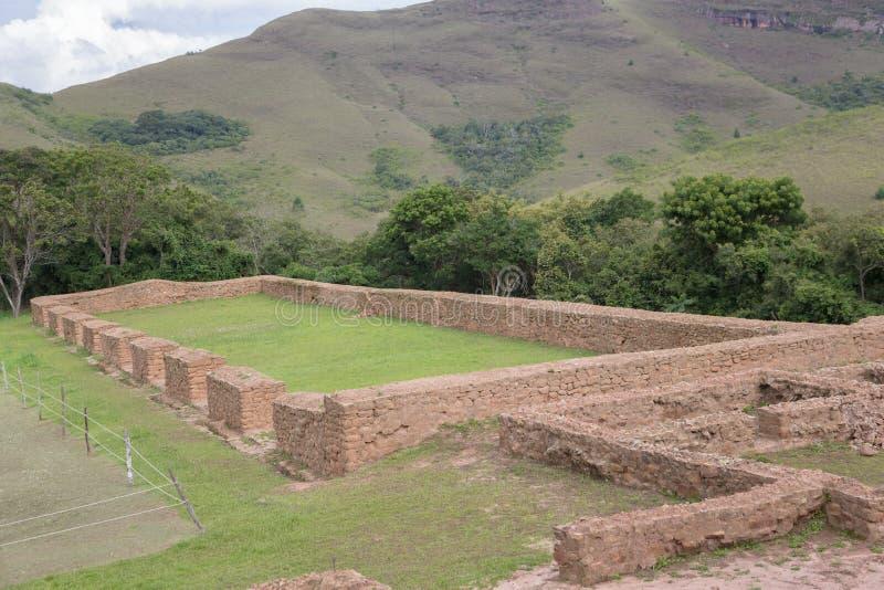 Archeologiczny miejsce El Fuerte De Samaipata (fort Samaipata) zdjęcia royalty free