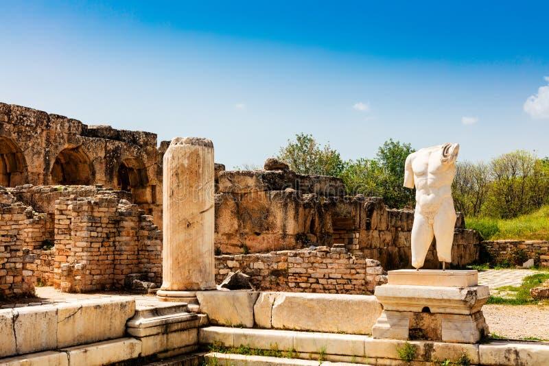 Archeologiczny miejsce Helenistic miasto Aphrodisias w zachodnim Anatolia, Turcja zdjęcie royalty free
