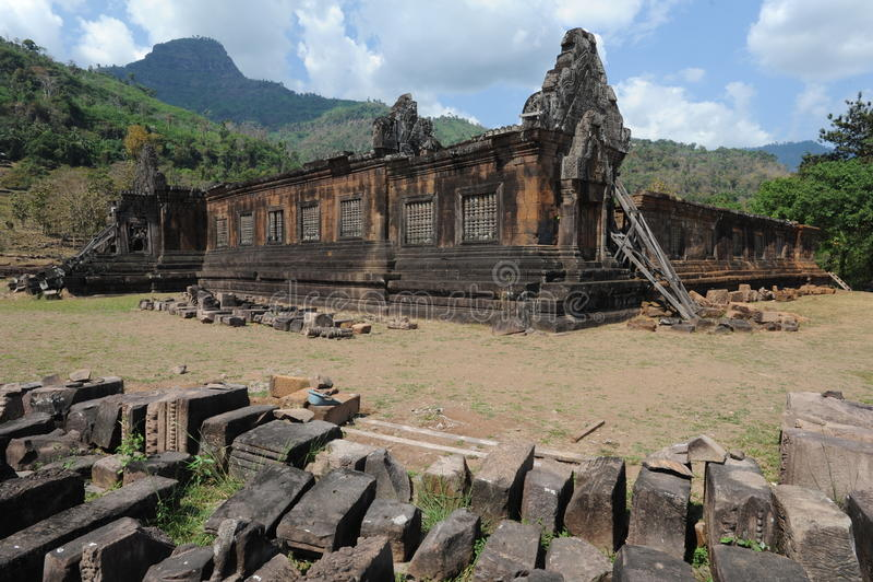 Archeologiczny miejsce Wat Phu blisko Champasak obrazy stock
