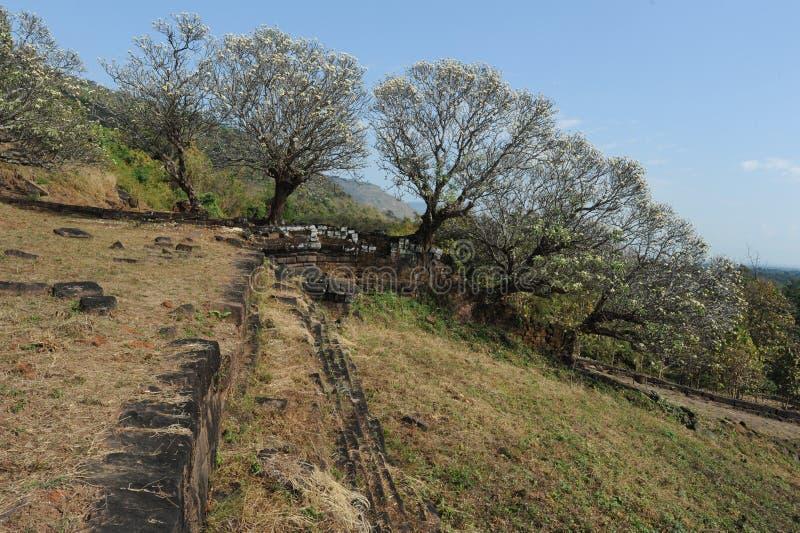 Archeologiczny miejsce Wat Phu blisko Champasak zdjęcia stock