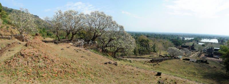 Archeologiczny miejsce Wat Phu blisko Champasak zdjęcie stock