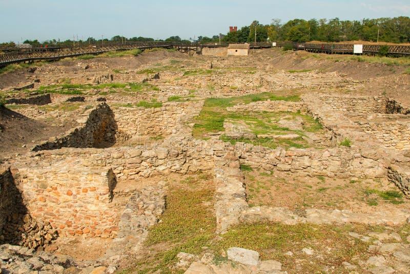 Archeologiczny muzealny Tanais zdjęcia stock