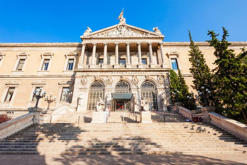 Archeologiczny muzeum i Krajowa biblioteka Hiszpania, Madryt obraz royalty free