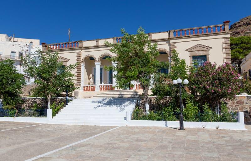 Archeologiczny muzeum Milos wyspy, Cyclades, Grecja fotografia stock