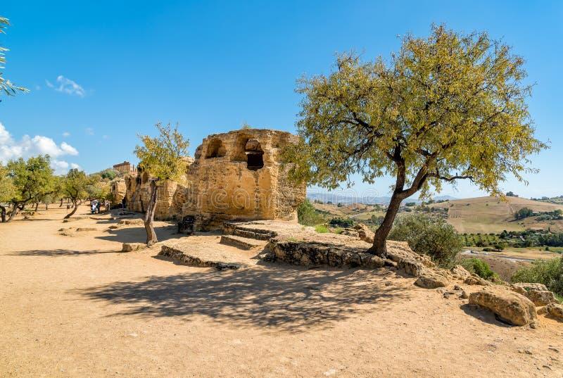 Archeologiczny park dolina świątynie w Agrigento, Sicily obraz royalty free