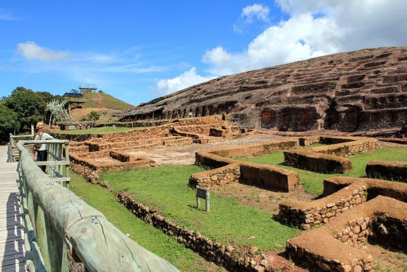 archeologii Bolivia el fuerte ruiny fotografia royalty free