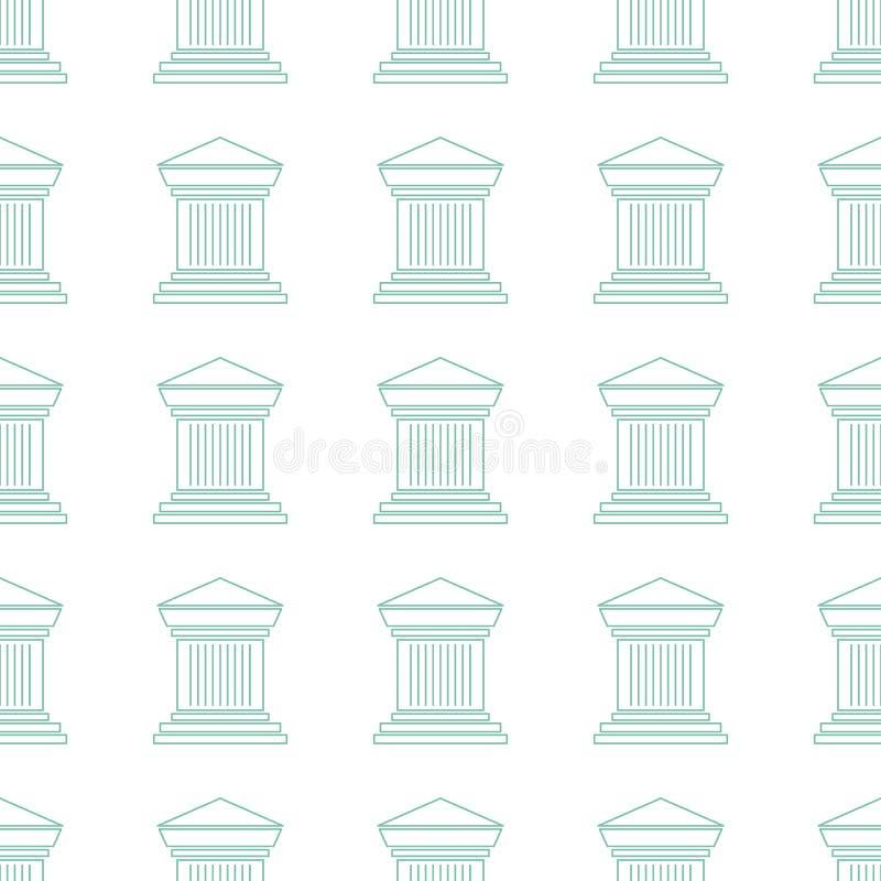Archeologisch naadloos patroon royalty-vrije illustratie