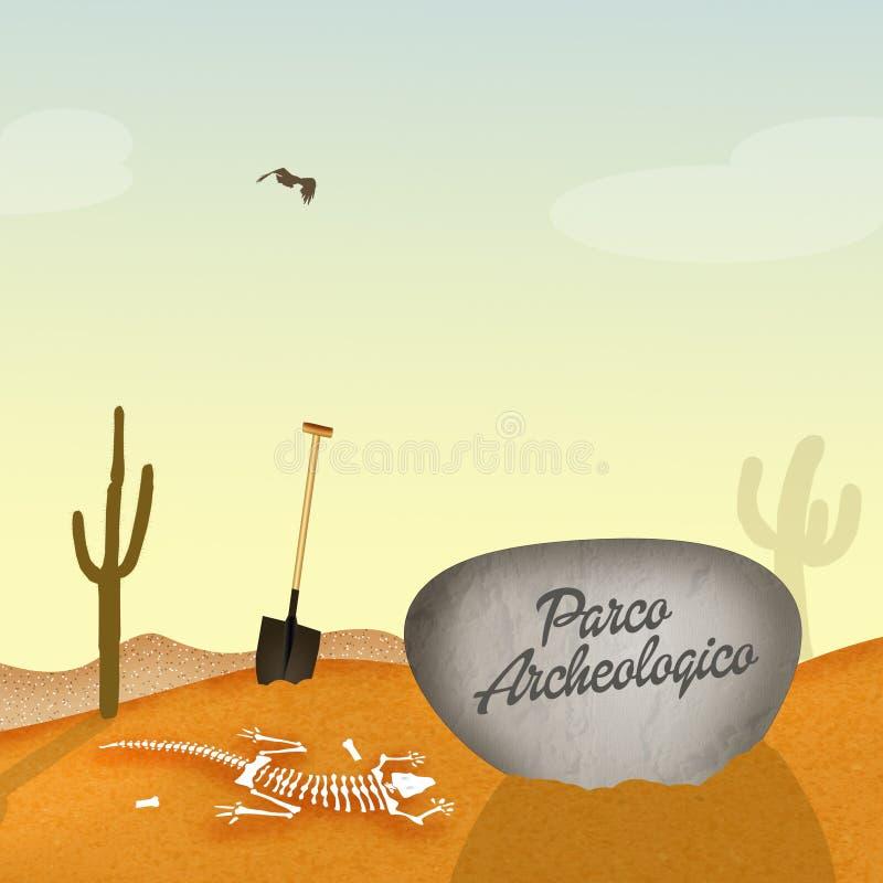 Archeologisch Park stock illustratie