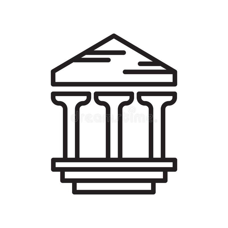 Archeologisch pictogram vectordieteken en symbool op witte bac wordt geïsoleerd stock illustratie