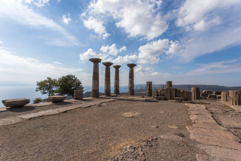 Archeologische plaats in Assos, Turkije royalty-vrije stock afbeelding