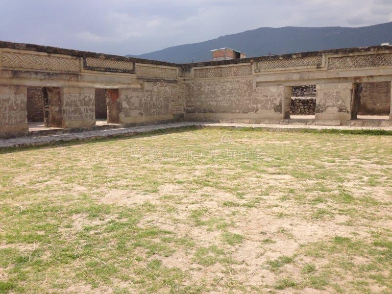 archeologische plaats, ruïnes van Mitla in Oaxaca, Mexico royalty-vrije stock foto's
