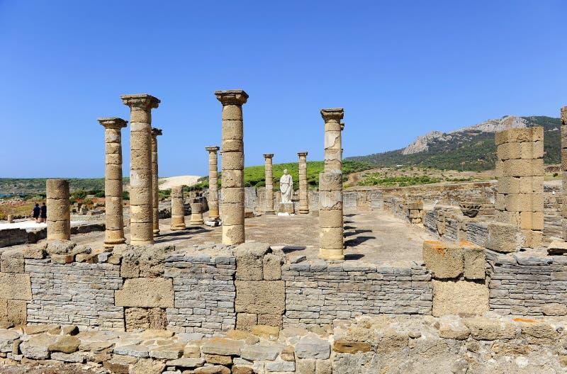 Archeologische plaats van Baelo Claudia, Tarifa, provincie van CÃ ¡ diz, Spanje stock afbeeldingen