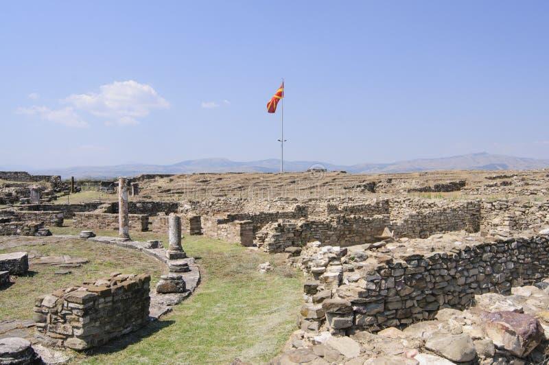 Archeologische plaats van stobirepubliek van Macedonië Europa royalty-vrije stock afbeelding