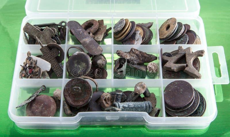 Archeologo della scatola fotografia stock