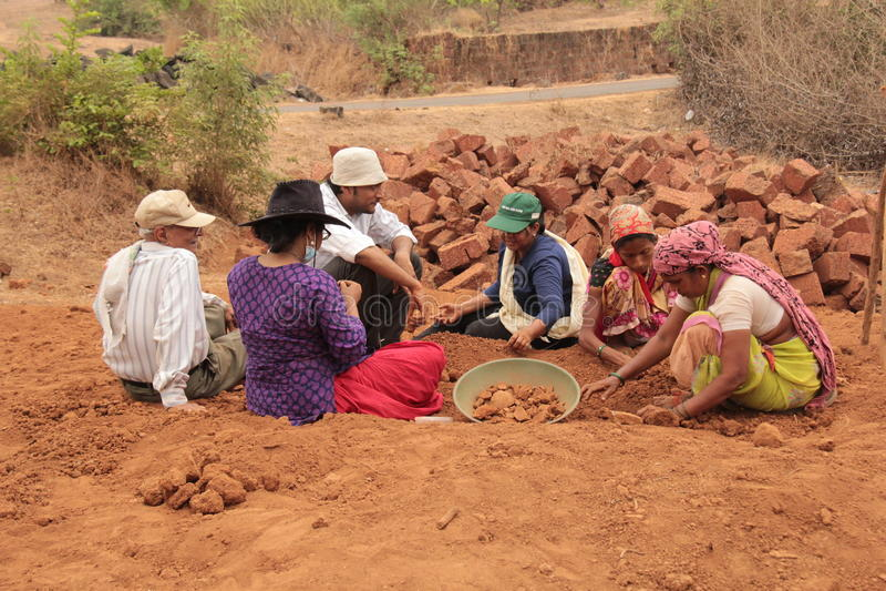 Archeologo sul lavoro fotografie stock libere da diritti
