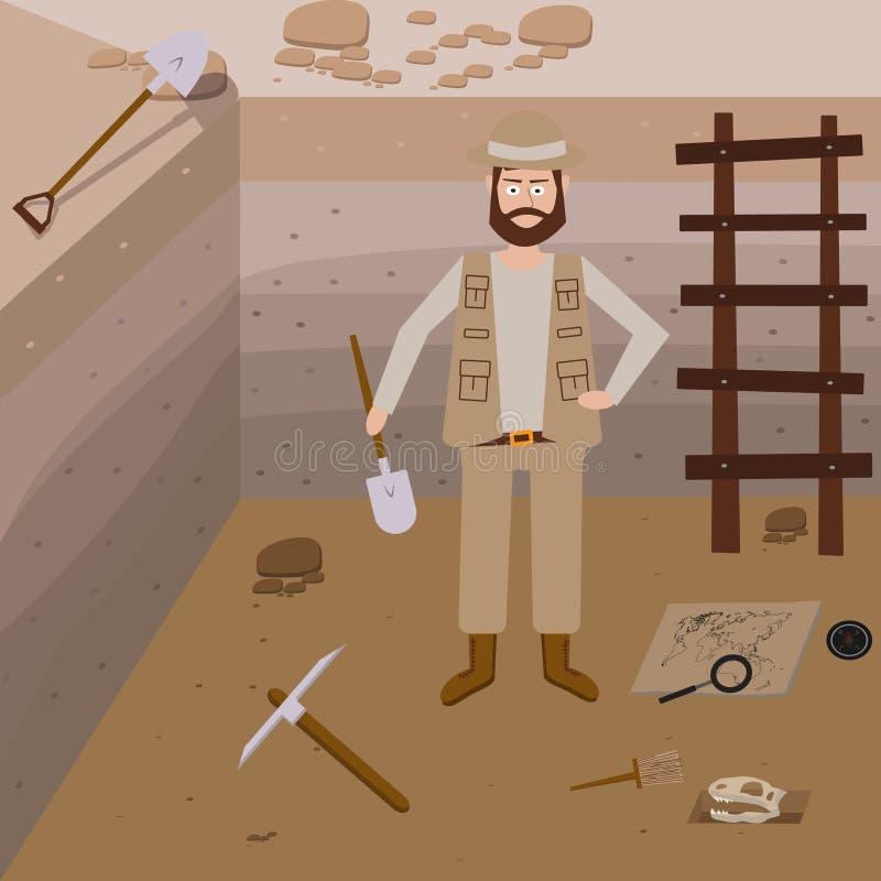 Archeology vector illustrations. royalty free illustration