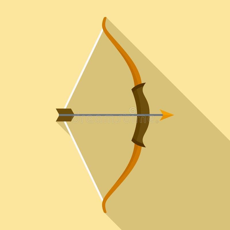 Archer ??ku ikona, mieszkanie styl ilustracja wektor