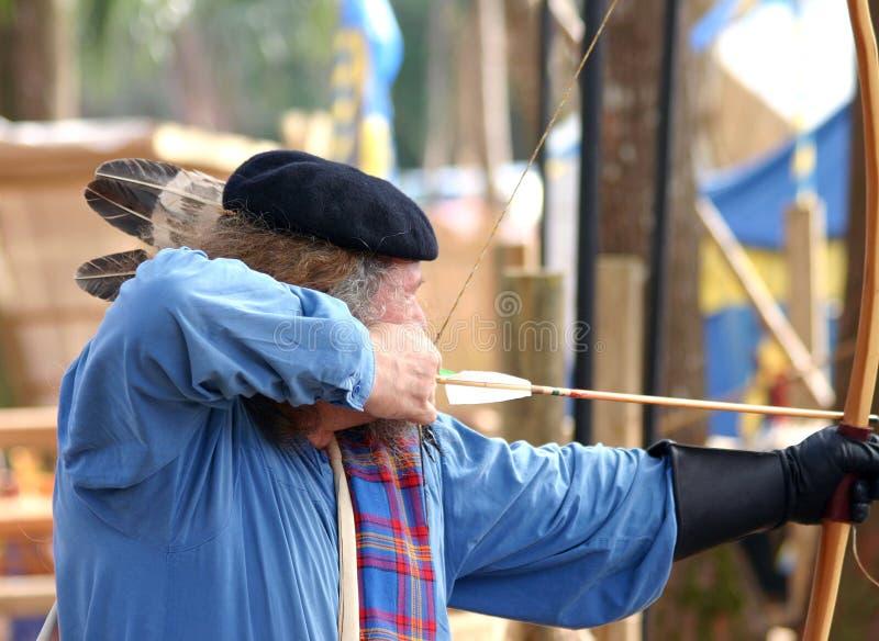 Download Archer imagen de archivo. Imagen de archery, drenaje, medieval - 1278699
