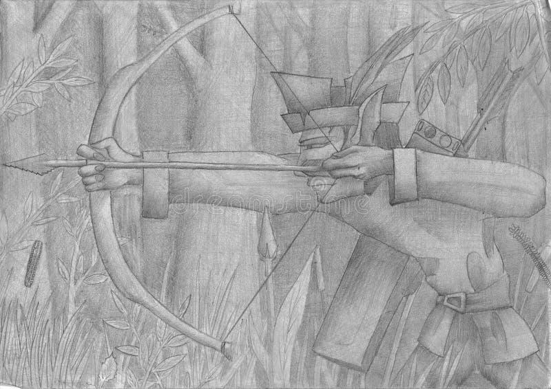 Archer illustration libre de droits