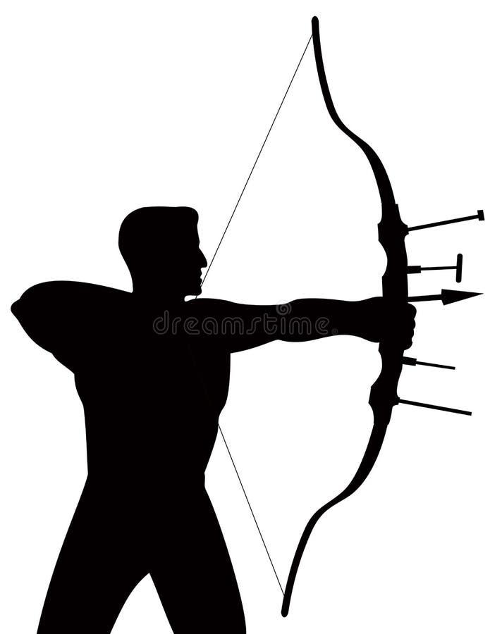 Archer stock illustration