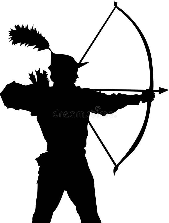 Archer illustration de vecteur
