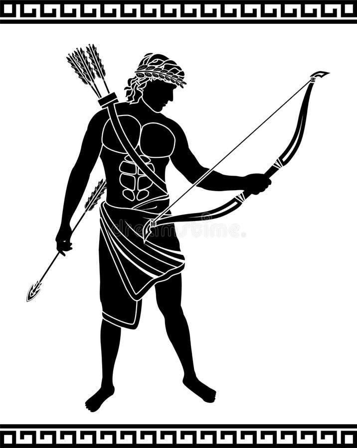 Archer antique illustration libre de droits