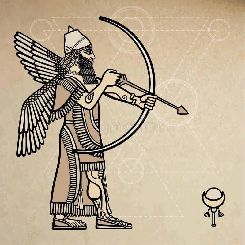 Archer assyrien illustration libre de droits